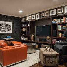 Contemporary Home Theater by Lizette Marie Interior Design