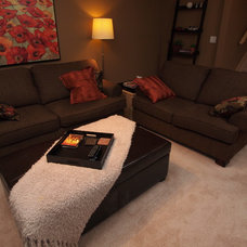 Contemporary Family Room by Willow Tree Interiors