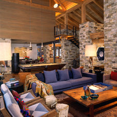 Rustic Family Room by Poss Architecture + Planning + Interior Design