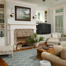 Traditional Family Room by sarah pejeau