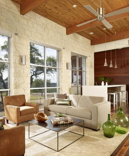 Modern Family Room by 3 Fold Design Studio