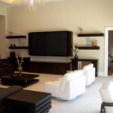 Contemporary Family Room by Kornerstone Kitchens