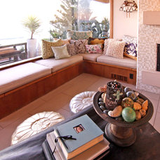 Eclectic Family Room by Shelley Gardea