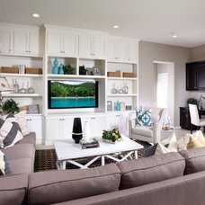 Beach Style Family Room by Brookfield Residential Northern California