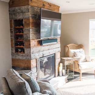 Wine Rack and Fireplace