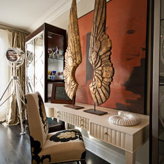 eclectic family room by Lucid Interior Design Inc.