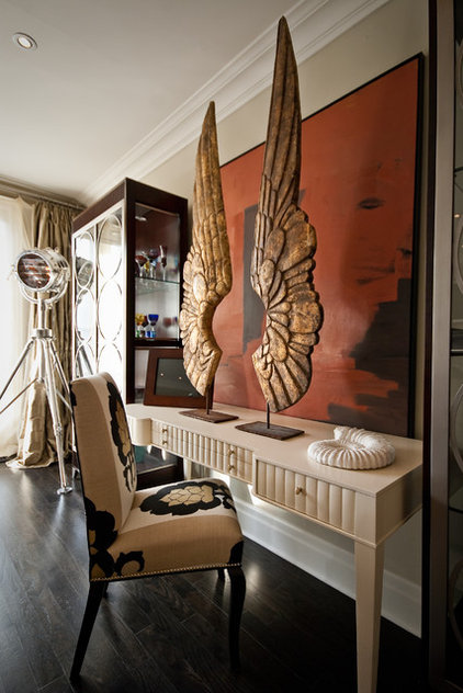 Traditional Family Room by Lucid Interior Design Inc.