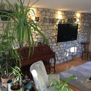 Winnebago Natural Stone Veneer Interior Wall