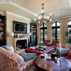 Mediterranean Family Room by COOK ARCHITECTURAL Design Studio