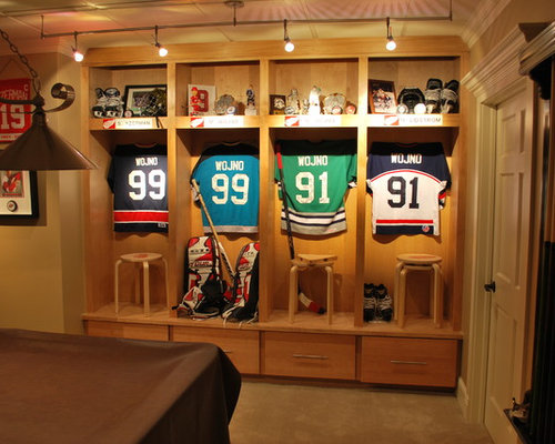 Man Cave Sports Items : Hockey lockers ideas pictures remodel and decor