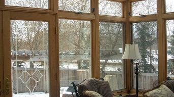 Wood Frame Studio Sunroom
