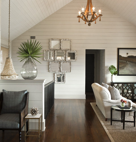 White Wood Ceiling Panels Houzz