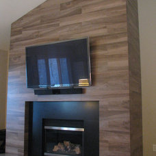 Contemporary Family Room by Tilesmith, LLC