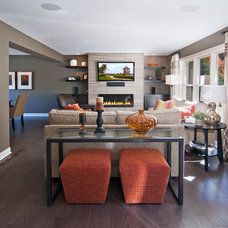 Contemporary Family Room by Ispiri Design-Build