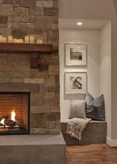 Transitional Family Room by Interiors