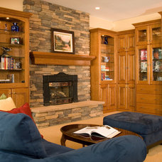 Traditional Family Room by Riddle Construction and Design