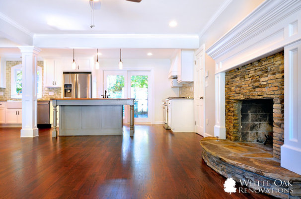 Traditional Family Room by White Oak Renovations