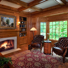 Traditional Family Room by Melichar Architects