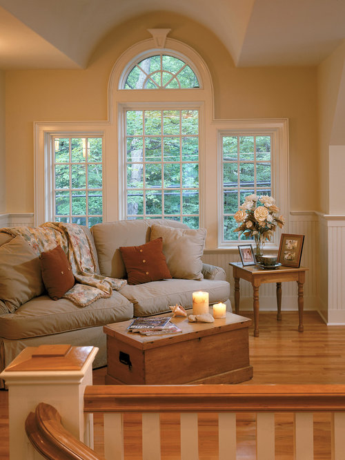 Houzz half moon window design ideas remodel pictures for Beach house designs living upstairs