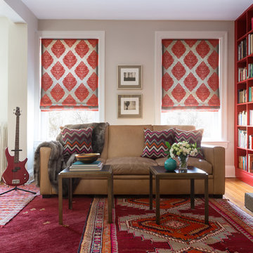 Woodley Park Residence - Red Family Room