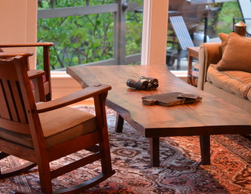 "WOODLYNNS EDGE  "" Live edge slab table and woodwork """