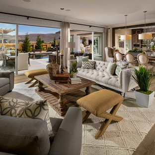 Island style family room photo in San Diego