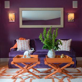 Immagine di un soggiorno chic