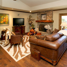 Traditional Family Room by K.C. Customs & Remodeling, Inc.