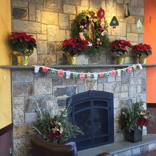 Woodside Natural Stone Veneer Fireplace