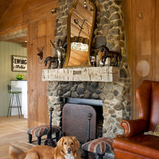Rustic Family Room by Shannon Ggem ASID