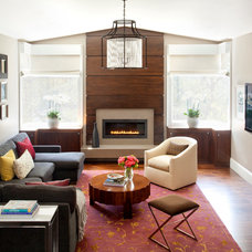 Contemporary Family Room by Miller Design Co.