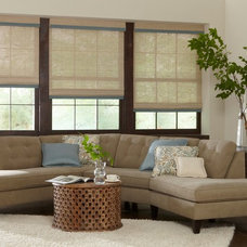 Traditional Family Room by Lone Star Blinds