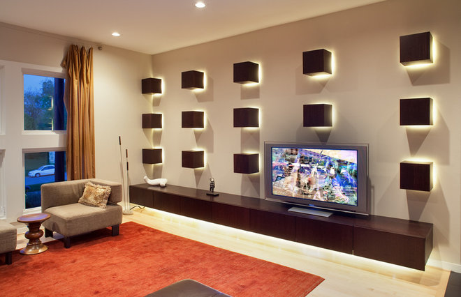 Contemporary Family Room by Wright Street Design Group Inc.