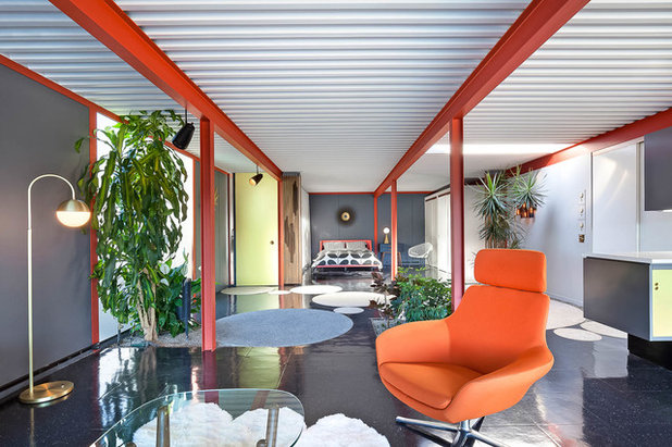 Midcentury Family Room by Sabrina Huang Photography + Video Production