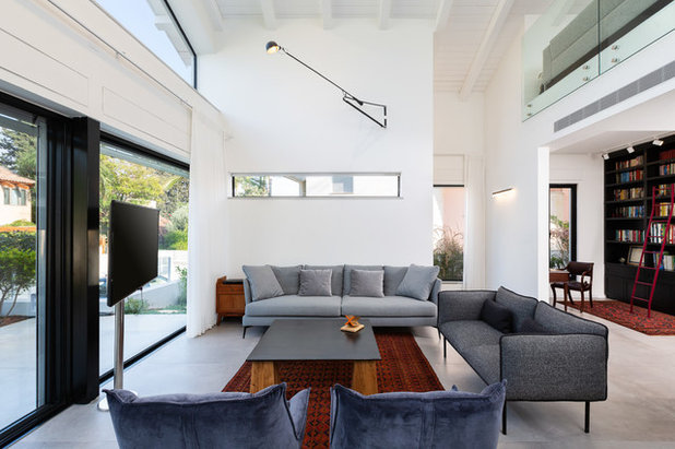 Midcentury Family Room by Orna Gurevich interior design