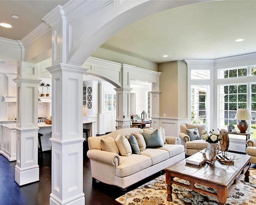 Example Of A Classic Open Concept Family Room Design In Other With