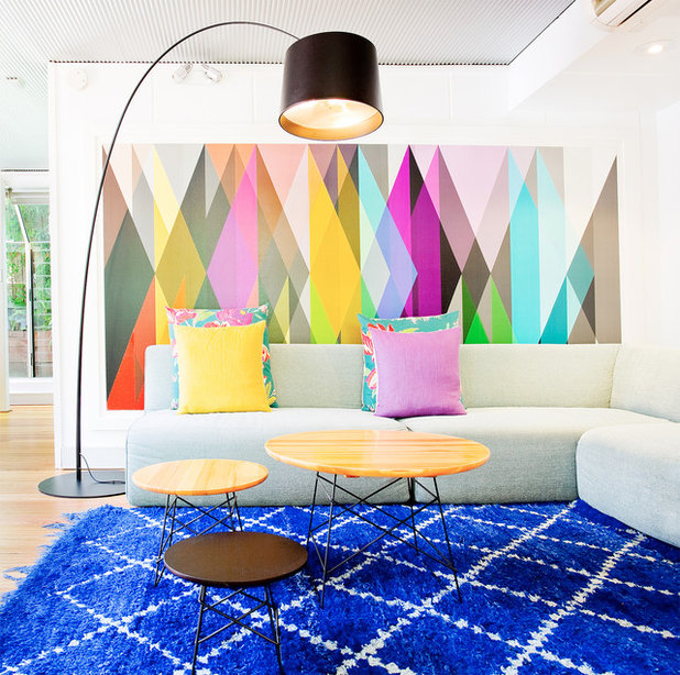 Contemporary Family Room by Touch Interiors by Bronwyn Poole