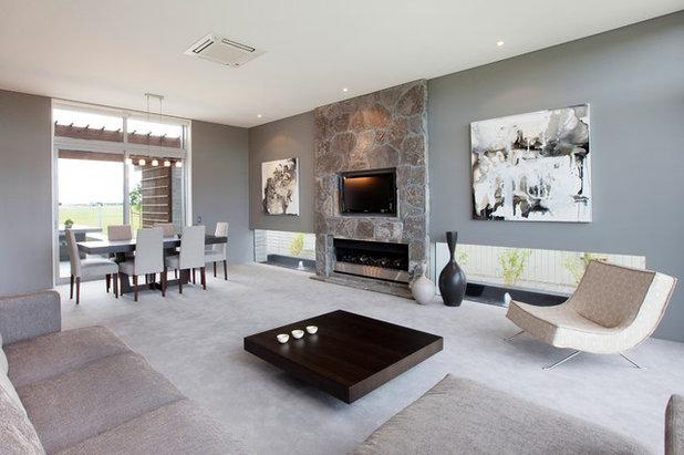 Contemporary Family Room by Coast Homes Ltd