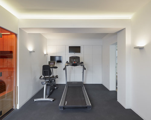 Heim Fitnessstudio fitnessraum ideen design bilder houzz