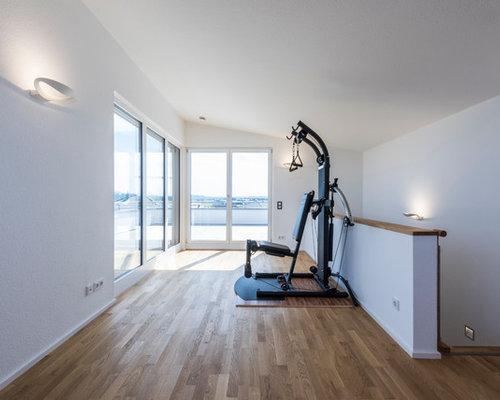 Fitnessraum zu hause gestalten  Moderner Fitnessraum - Ideen für Ihr Home-Gym