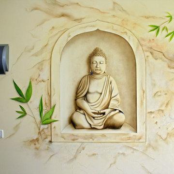 Wandmalerei Physiotherapie Praxis
