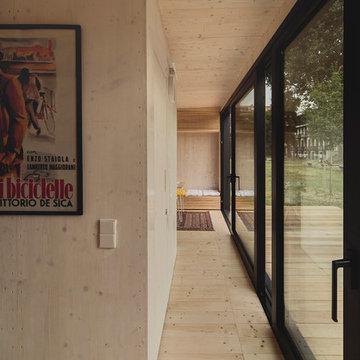 Futteralhaus. Vorgefertigtes, ökologisches, netzunabhängiges Haus