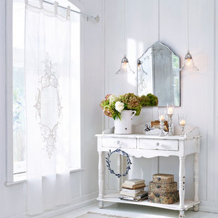 75 Most Popular Shabby Chic Style White Hallway Design Ideas For