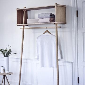 Praktische Design Garderobe aus Holz