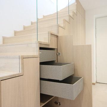 Treppenschrank - Stauraum unter der Treppe