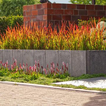 Architektonischer Vorgarten