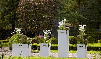 Blumenkübel Metall Box weiß