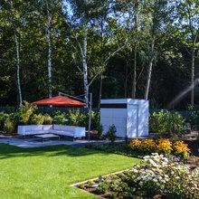 Ein Garten der zum Pool passt.