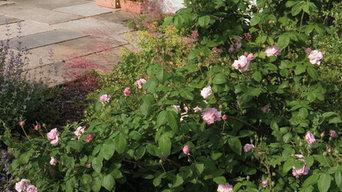 Ein Garten im ländlichen Stil
