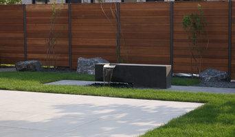 Garten mit Wasserobjekt